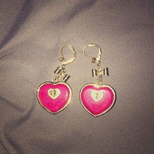 Betsey Johnson Heart Earrings